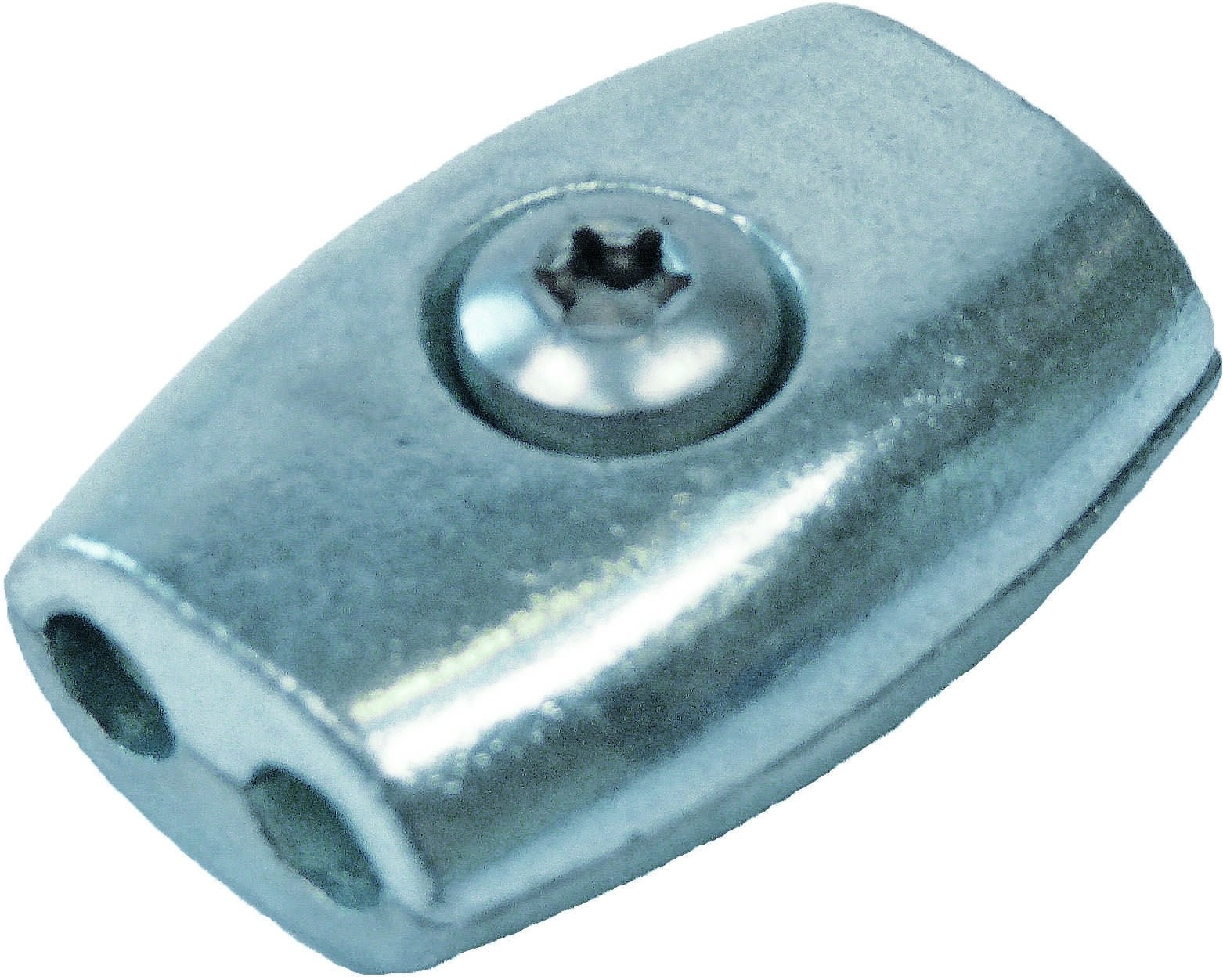 Staaldraadklem eivormig 6mm RVS A4 1 stuks