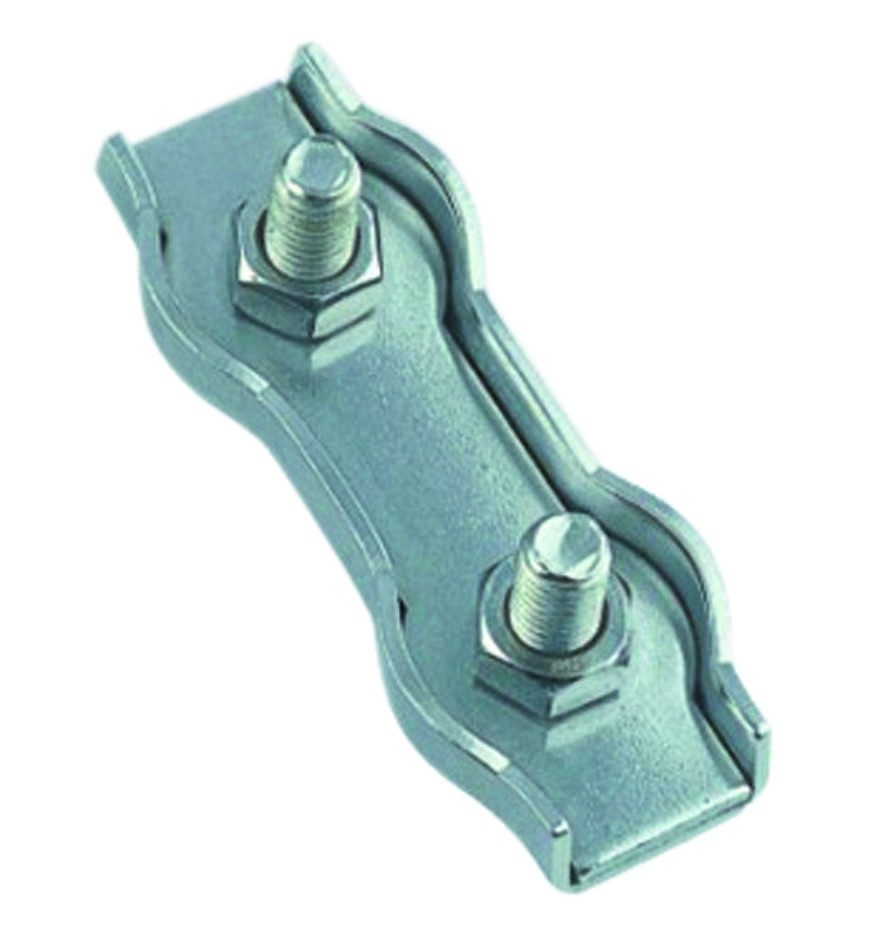 Staaldraadklem duplex 2mm RVS A4 1 stuks