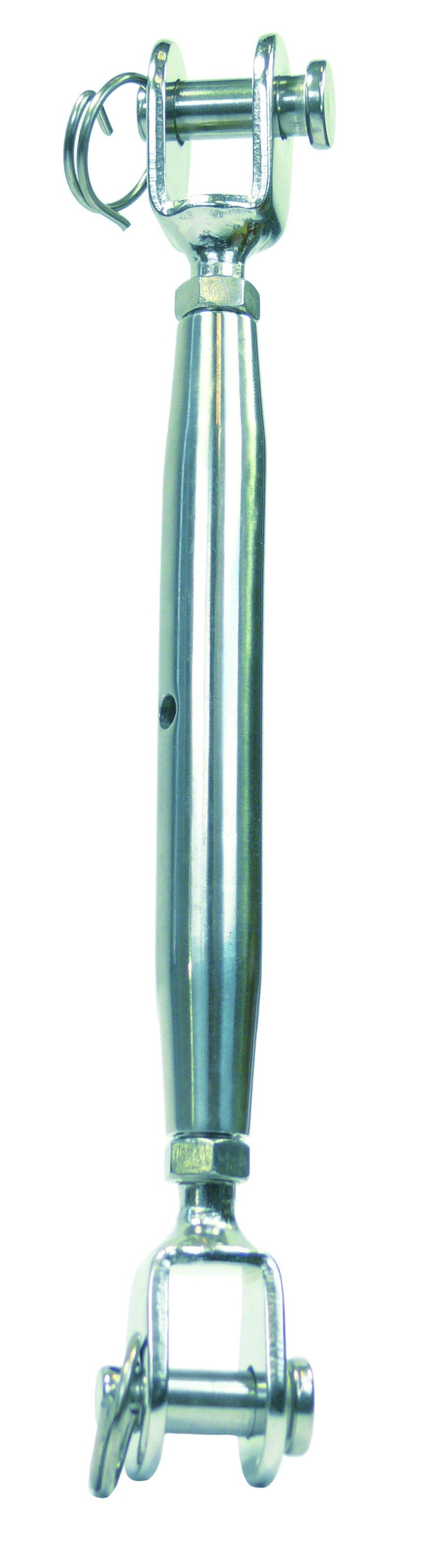 Wantspanner gaffel-gaffel M8 RVS A4 1 stuks
