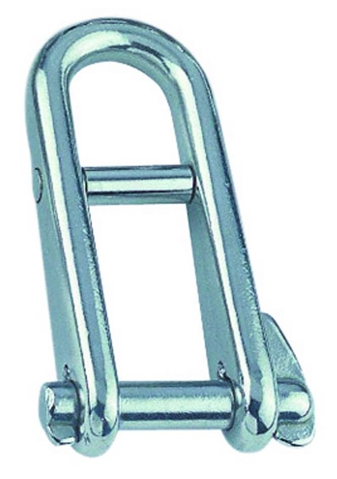 Sleutelsluiting met brug 6mm BL:1363 Kg RVS A4 1 stuks