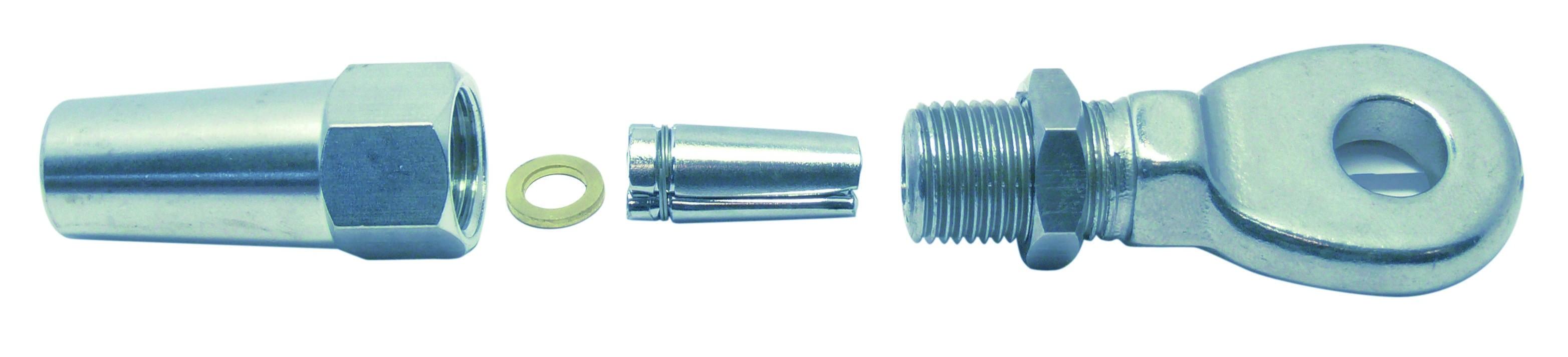 DHZ-oogterminal 4mm RVS A4 1 stuks