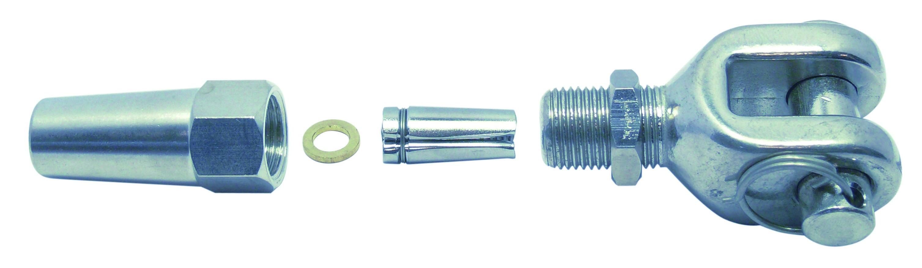 DHZ-gaffelterminal 5mm RVS A4 1 stuks