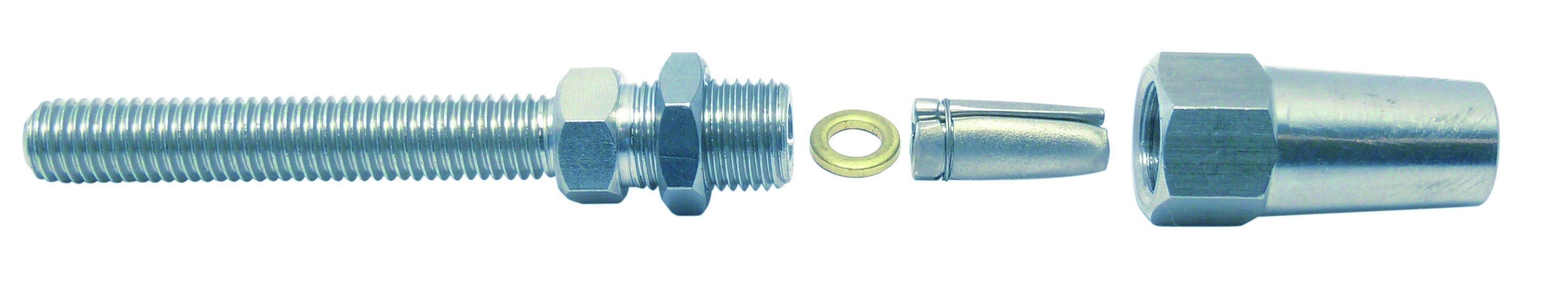 DHZ-schroefdraadterminal 4mm RVS A4 1 stuks