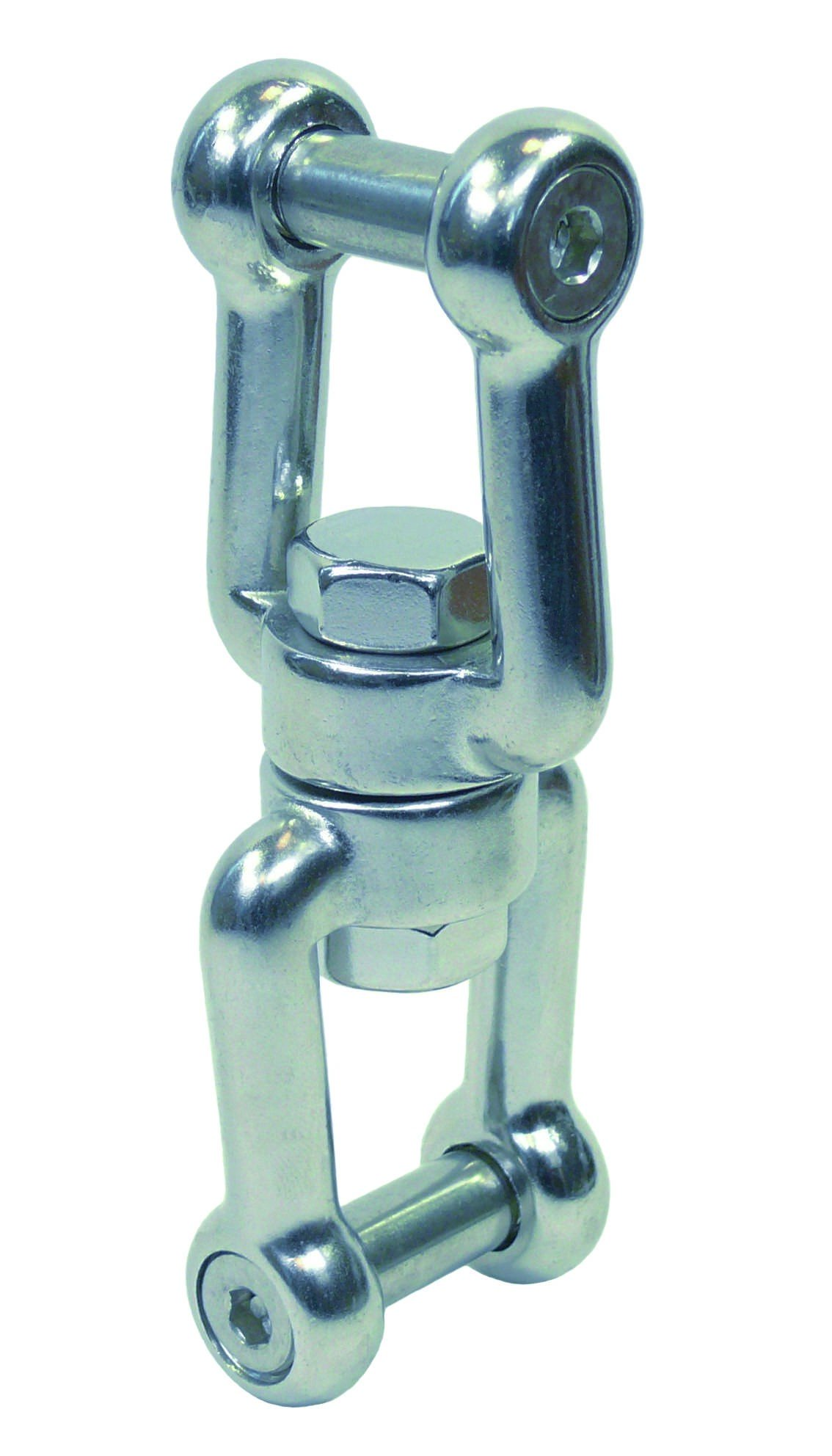 Dubbele wartel  bzk 6mm BL:1350 Kg  RVS A4