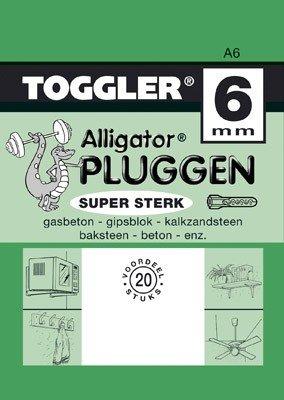 Toggler Alligator plug A6 20 stuks