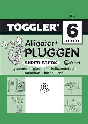 Toggler Alligator plug A6 6 stuks