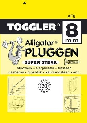 Toggler Alligator plug AF8 met flens 20 stuks
