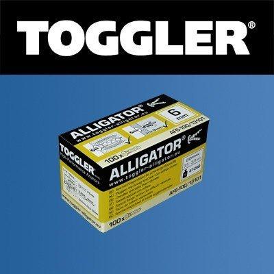Toggler Alligator plug AF6 met flens 100 stuks