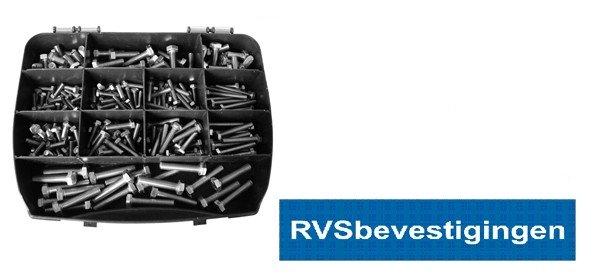 Assortimentskoffer Tapbouten Din933 M5-M6-M8  RVS A4 (AISI-316) 230-delig