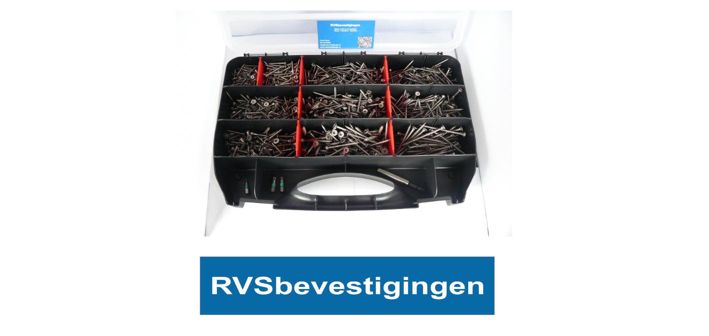 Assortimentskoffer Hout-spaanplaatschroeven platkop RVS Torx 1454 delig