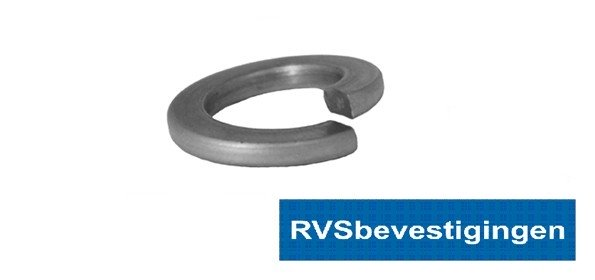 Veerring Din127B M3 3,1mm RVS A4 200 stuks