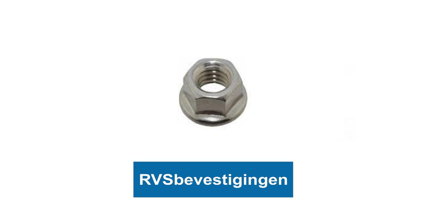 Flensmoer Din6923 M5 RVS A2 100 stuks