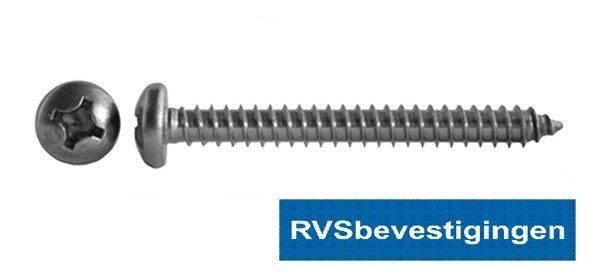 Plaatschroef Din7981 CK PH RVS A2 3,5x22mm 200 stuks