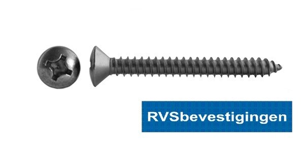 Plaatschroef Din7983 LK PH RVS A2 6,3x50mm 100 stuks