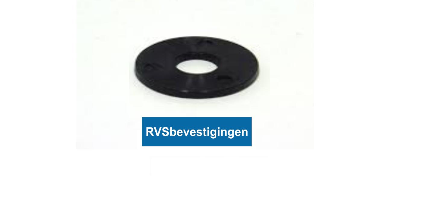 Nylon sluitring Din9021 M4 4,3mm zwart 200 stuks