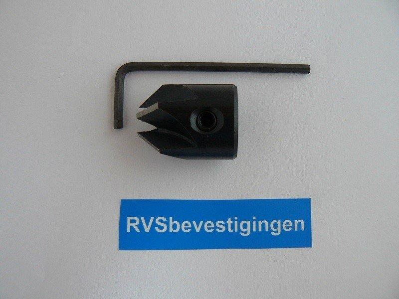 Famag opsteekverzinker + inbussleutel 5,0/16x25mm 1 stuks