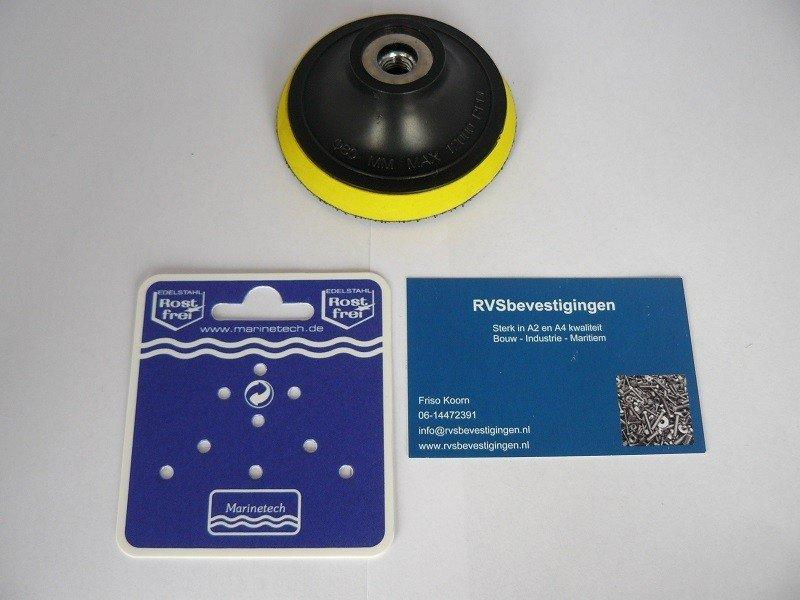 Steunpad tbv polijst/schuurschijf met Velcro klittenband 80mm 1 stuks