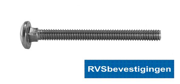 Slotbout Din603 RVS A2 M6x130mm 50 stuks