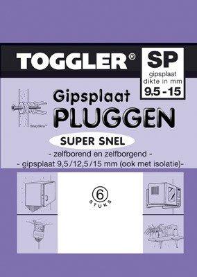 Toggler Gipsplaatplug 9,5-15mm SP-6 6 stuks