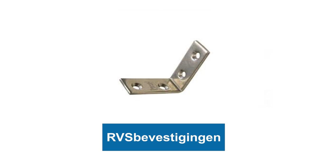 Stoelhoek 80mm RVS A2 1 stuks