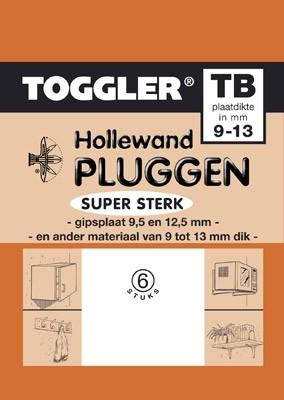 Toggler Hollewandplug 9-13mm TB-6 6 stuks