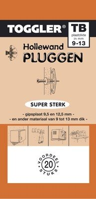 Toggler Hollewandplug 9-13mm TB-20 20 stuks