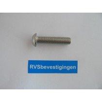 Laagbolkop binnenzeskantbout ISO7380 ULS RVS A2 M5x16mm 100 stuks