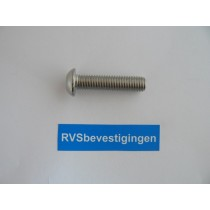 Laagbolkop binnenzeskantbout ISO7380 ULS RVS A2 M6x16mm 100 stuks