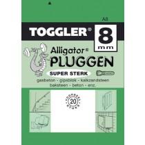 Toggler Alligator plug A8 20 stuks