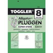 Toggler Alligator plug A8 6 stuks