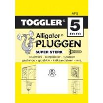 Toggler Alligator plug AF5 met flens 6 stuks
