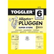 Toggler Alligator plug AF6 met flens 6 stuks