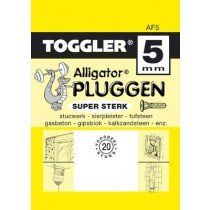 Toggler Alligator plug AF5 met flens 20 stuks