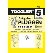 Toggler Alligator plug AF5 met flens 6st.