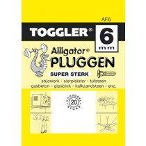 Toggler Alligator plug AF6 met flens 20 stuks