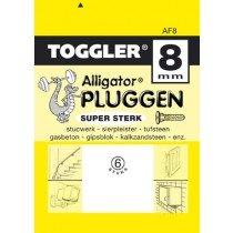 Toggler Alligator plug AF8 met flens 6 stuks