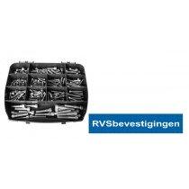 Assortimentskoffer Binnenzeskantbouten Din912 M5-M6-M8  RVS A4 (AISI-316) 225-delig