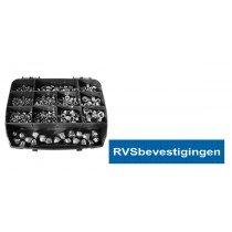 Assortimentskoffer Moeren RVS A4 (AISI-316) 535-delig
