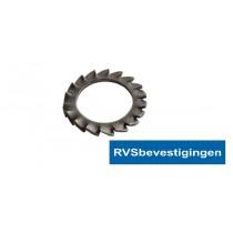 Waaier-veerring Din6798A 6,4mm RVS A2 200 stuks