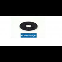 Nylon sluitring Din9021 M5 5,3mm zwart 200 stuks