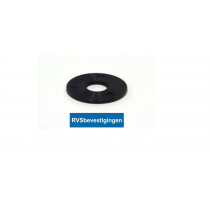 Nylon sluitring Din9021 M 5,3mm zwart 200st.