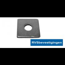 Sluitplaat vierkant Din436 13,5mm 40x40mm RVS A2 50 stuks