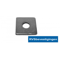 Sluitplaat vierkant Din436 17,5mm 50x50mm RVS A2 25 stuks