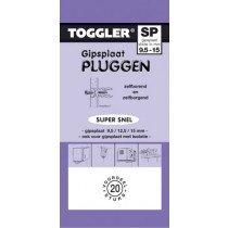 Toggler Gipsplaatplug 9,5-15mm SP-20 20st.