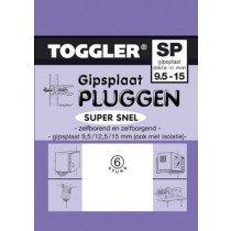 Toggler Gipsplaatplug 9,5-15mm SP-6 6st.