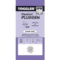 Toggler Gipsplaatplug 9,5-15mm SPM-20 20st.