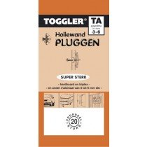 Toggler Hollewandplug 3-6mm TA-20 20 stuks