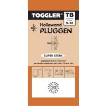 Toggler Hollewandplug 9-13mm TB-20 20st.