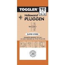 Toggler Hollewandplug 15-19mm TC-20 20 stuks