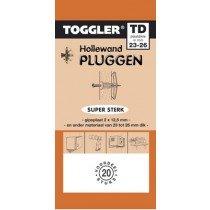 Toggler Hollewandplug 23-26mm TD-20 20 stuks
